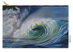 Carry-all Pouch featuring the painting North Shore Curl by Donna Tuten