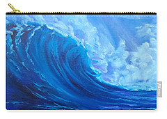 Carry-all Pouch featuring the painting Wave V1 by Jenny Lee