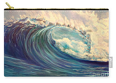 Carry-all Pouch featuring the painting North Whore Wave by Jenny Lee