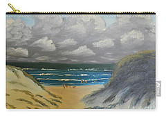 Carry-all Pouch featuring the painting North Windang Beach by Pamela  Meredith