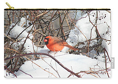 Northern Cardinal Carry-all Pouch by Karen Silvestri