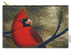 Northern Cardinal Carry-all Pouch by Rick Bainbridge