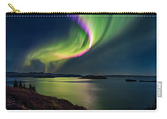 Northern Lights Over Thingvallavatn Or Carry-all Pouch