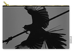 Carry-all Pouch featuring the photograph Northern Mockingbird by Leticia Latocki