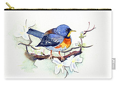 Northern Parula Carry-all Pouch by Katherine Miller