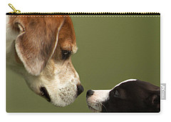 Nose To Nose Dogs 2 Carry-all Pouch by Linsey Williams