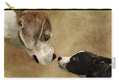 Nose To Nose Dogs Carry-all Pouch by Linsey Williams