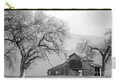 Not Much Time Left Bw Carry-all Pouch by Debby Pueschel