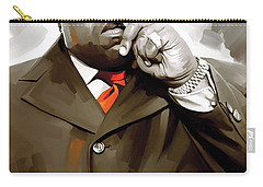 Notorious Big - Biggie Smalls Artwork 3 Carry-all Pouch by Sheraz A