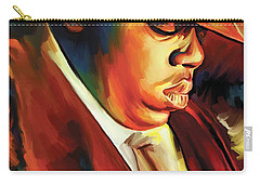 Notorious Big - Biggie Smalls Artwork Carry-all Pouch by Sheraz A