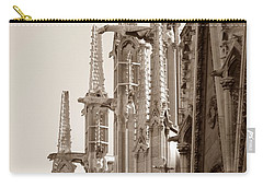 Notre Dame Sentries Sepia Carry-all Pouch by HEVi FineArt