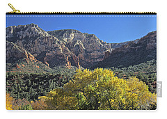 Carry-all Pouch featuring the photograph November In Sedona by Penny Meyers