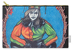 Carry-all Pouch featuring the drawing November Snow by Michael  TMAD Finney
