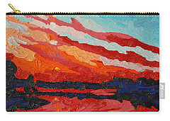 November Sunset Carry-all Pouch by Phil Chadwick