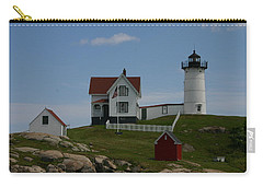 Carry-all Pouch featuring the photograph Nubble Light House York Maine by Denyse Duhaime