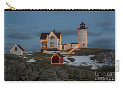 Nubble Lighthouse At Christmas Carry-all Pouch by Steven Ralser