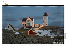 Nubble Lighthouse At Christmas Carry-all Pouch