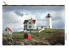 Nubble Lighthouse Carry-all Pouch by Nancy Landry