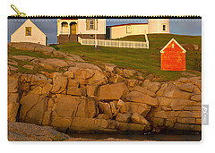 Carry-all Pouch featuring the photograph Nubble Lighthouse No 1 by Jerry Fornarotto