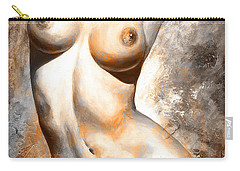 Nude Details - Digital Color Version Rust Carry-all Pouch