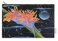 Carry-all Pouch featuring the painting Nudibranche by Dianna Lewis