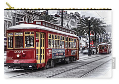 Carry-all Pouch featuring the photograph Number 2024 Trolley by Tammy Wetzel