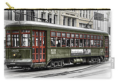 Carry-all Pouch featuring the photograph Number 965 Trolley by Tammy Wetzel