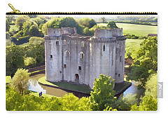 Nunney Castle Painting Carry-all Pouch by Ron Harpham