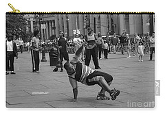 Carry-all Pouch featuring the photograph Ny City Street Performer by Angela DeFrias