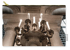 Carry-all Pouch featuring the photograph Ny Public Library Candelabra by Angela DeFrias