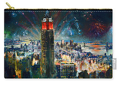 Nyc In Fourth Of July Independence Day Carry-all Pouch by Ylli Haruni