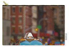 Carry-all Pouch featuring the digital art Taxi by Jerry Fornarotto