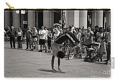 Carry-all Pouch featuring the photograph Nycity Street Performer by Angela DeFrias