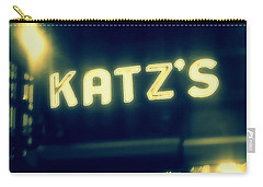 Nyc's Famous Katz's Deli Carry-all Pouch by Paulo Guimaraes