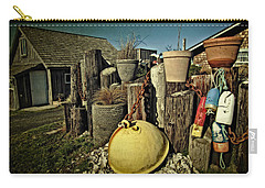 Carry-all Pouch featuring the photograph Nye Beach Buoys by Thom Zehrfeld