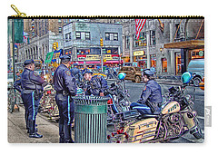 Carry-all Pouch featuring the photograph Nypd Highway Patrol by Ron Shoshani