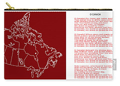 O Canada Lyrics And Map Carry-all Pouch