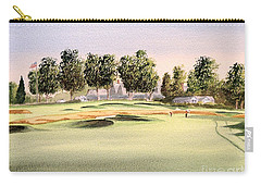 Carry-all Pouch featuring the painting Oakmont Golf Course 14th by Bill Holkham