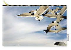 Ocean Birds Carry-all Pouch by Iconic Images Art Gallery David Pucciarelli