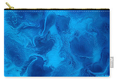 Ocean Blue Abstract Painting Carry-all Pouch
