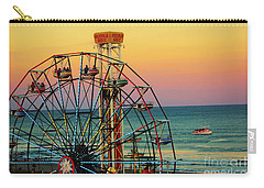 Ocean City Nj Wonder Wheel And Double Shot Carry-all Pouch