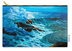 Carry-all Pouch featuring the painting Ocean Deep by Jenny Lee