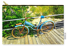 Carry-all Pouch featuring the photograph Ocean Grove Bike by Joan Reese
