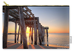 Ocean Grove Pier Sunrise Carry-all Pouch by Michael Ver Sprill