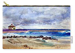 Ocean  Inlet Beach In Boynton Beach Carry-all Pouch by Donna Walsh