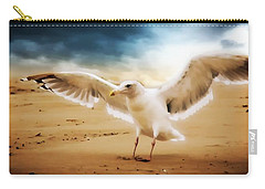 Carry-all Pouch featuring the photograph Ocean Landing by Aaron Berg