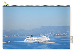 Ocean Liners In Corfu Carry-all Pouch by George Katechis
