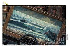 Carry-all Pouch featuring the photograph Ocean On Wheels Artist Cart At Jackson Square New Orleans La Usa by Michael Hoard