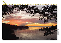 Carry-all Pouch featuring the photograph Ocean Sunset Deception Pass by Yulia Kazansky