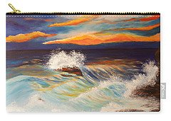 Carry-all Pouch featuring the painting Ocean Sunset by Michelle Joseph-Long